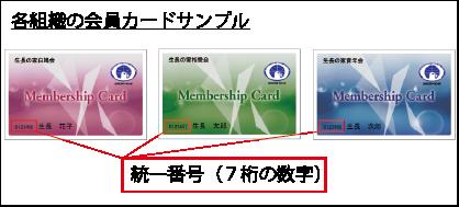 会員カードサンプル