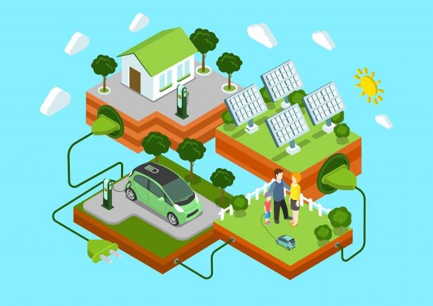 太陽光発電の電気を蓄電池や電気自動車に溜めて家庭で使える